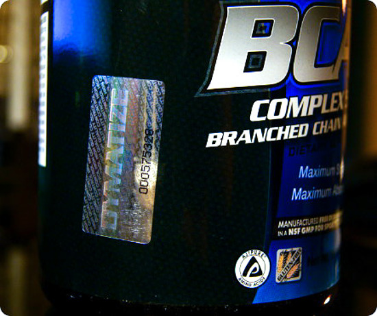 Защитная голограмма Dymatize BCAA complex 5050